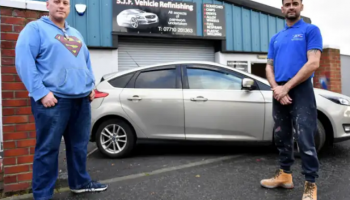 Independent bodyshop helps out dad in need