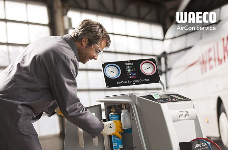 Free first service when you get a WAECO ASC air con service station in December