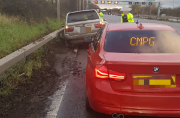 Watch: Police release footage of two-wheeled BMW X5 on motorway