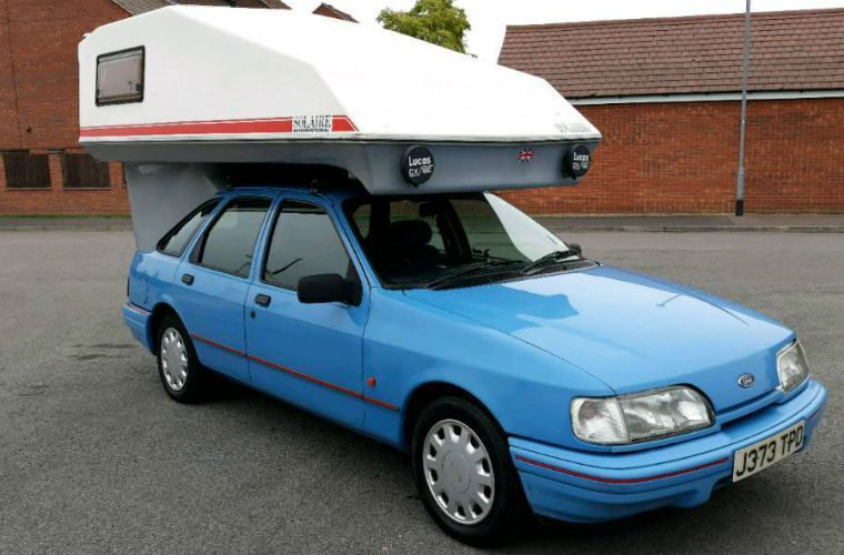 "Bizarre ""three berth"" Ford Sierra campervan goes up for sale"