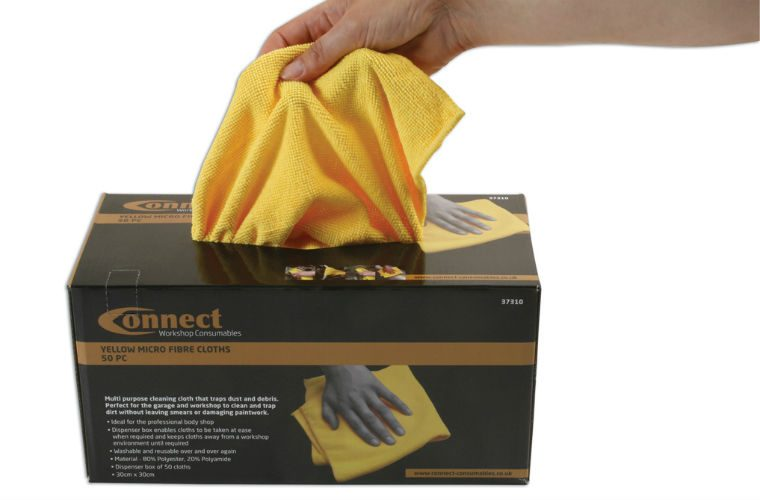 Multipurpose microfibre cleaning cloths from Connect Workshop Consumables