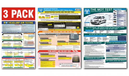 New 'common MOT failure items' poster available at Prosol