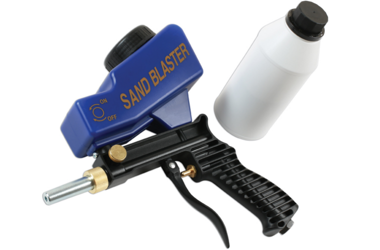 New compact sand blast gun from Gunson Tools