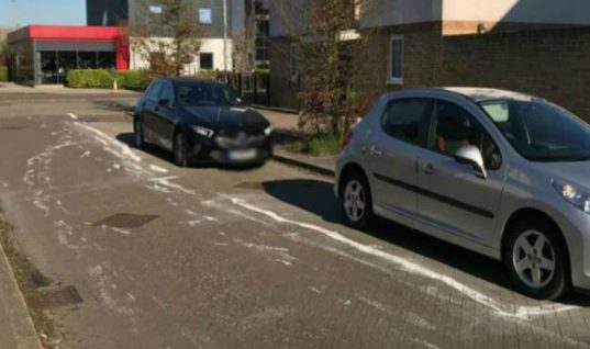 Neighbours left stunned after resident marks own parking bays in road