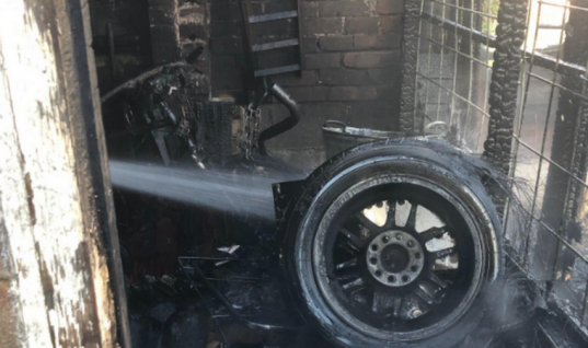 Fire caused by accidental ignition destroys much of garage