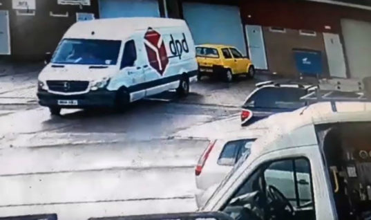 Watch: DPD driver sacked after reversing van into parked car and driving off
