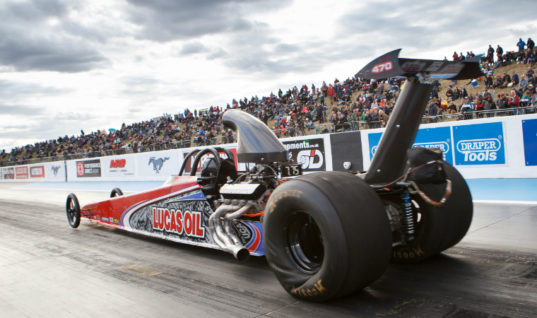 Lucas Oil backs drag racing champion at Santa Pod during Easter weekend