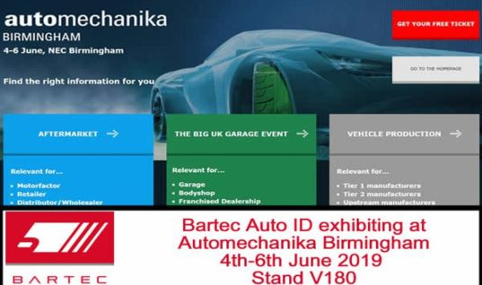 Bartec to exhibit at Automechanika Birmingham
