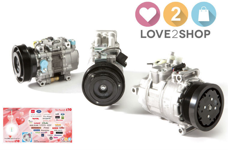 Workshops buying DENSO air conditioning compressor to get Love2Shop vouchers
