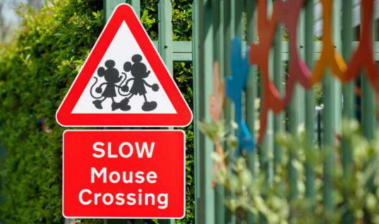 Mickey Mouse and Donald Duck road signs to tackle road safety for kids