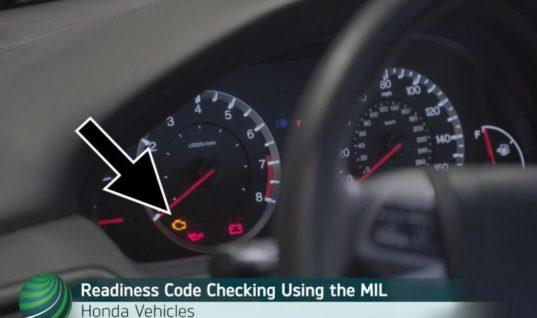 Watch: How to read Honda  OBD II emission monitor status using MIL