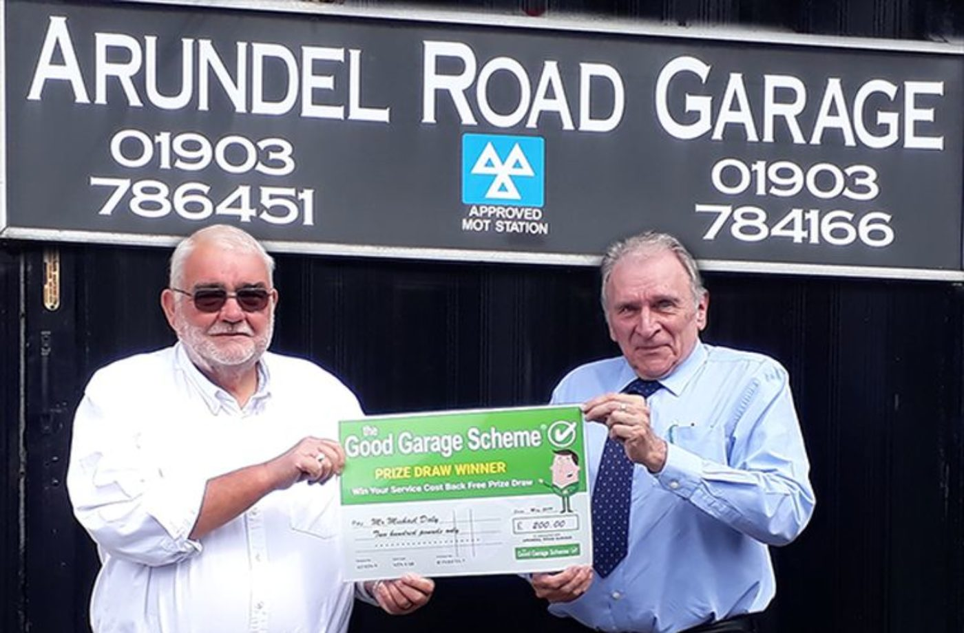 Good Garage Scheme winner selected for £200 prize