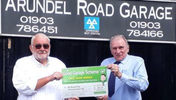 Good Garage Scheme winner selected for £200 prize