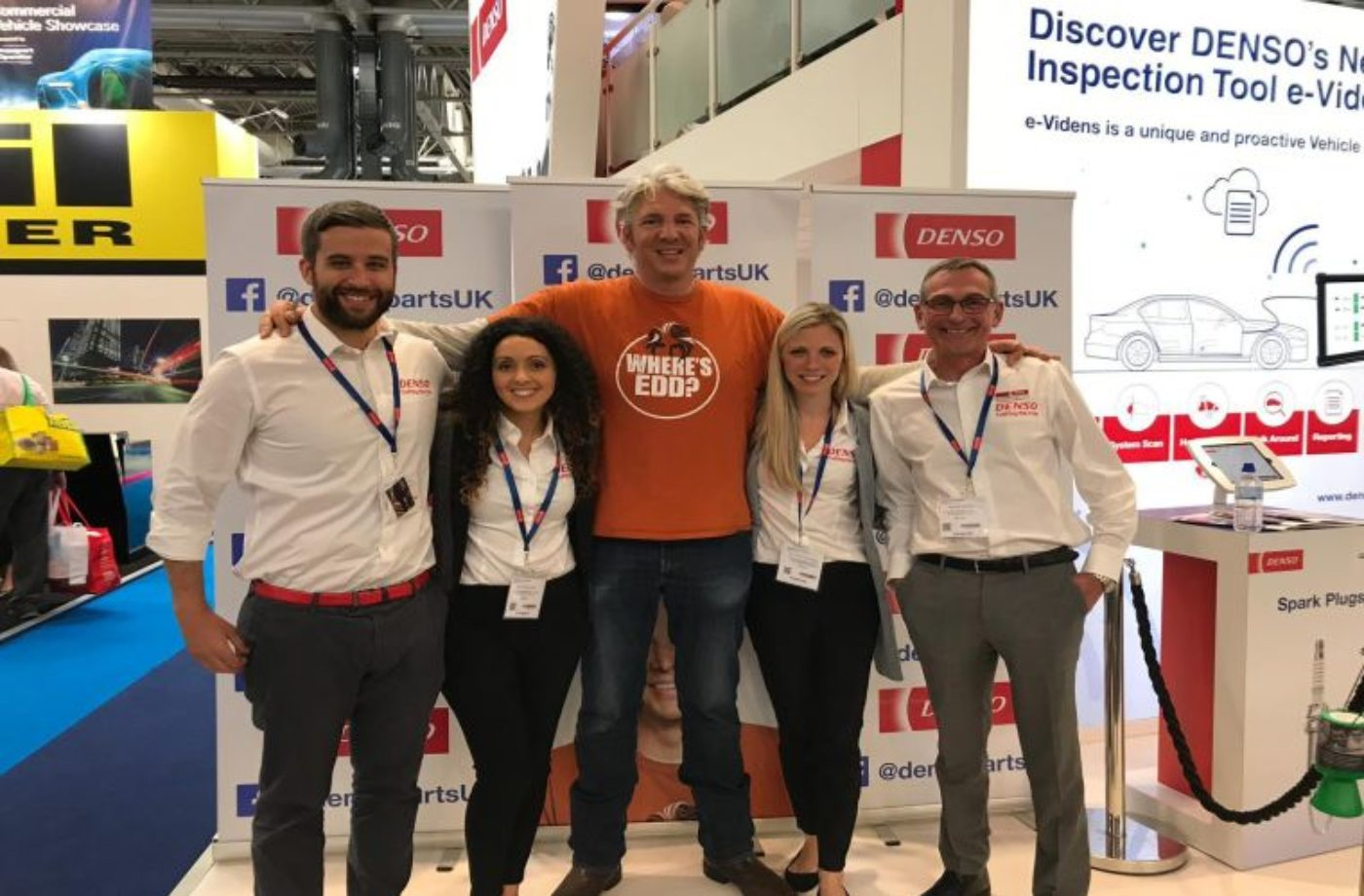 Edd China pulls visitors to DENSO stand at Automechanika