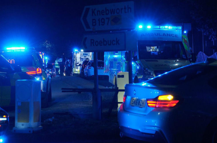 Video: 17 injured after two cars crash at modified car meet