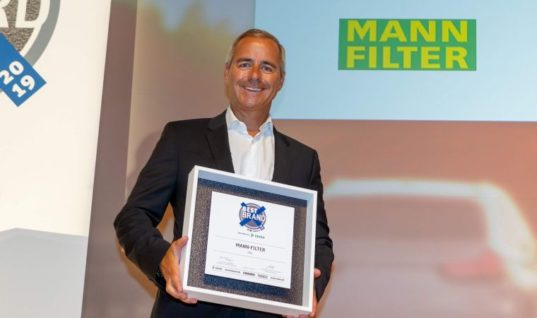MANN-FILTER wins filter category for eighth time running