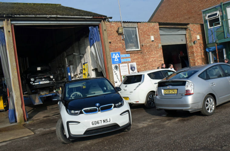 Insurance costs shouldn't be affected for garages working on EVs