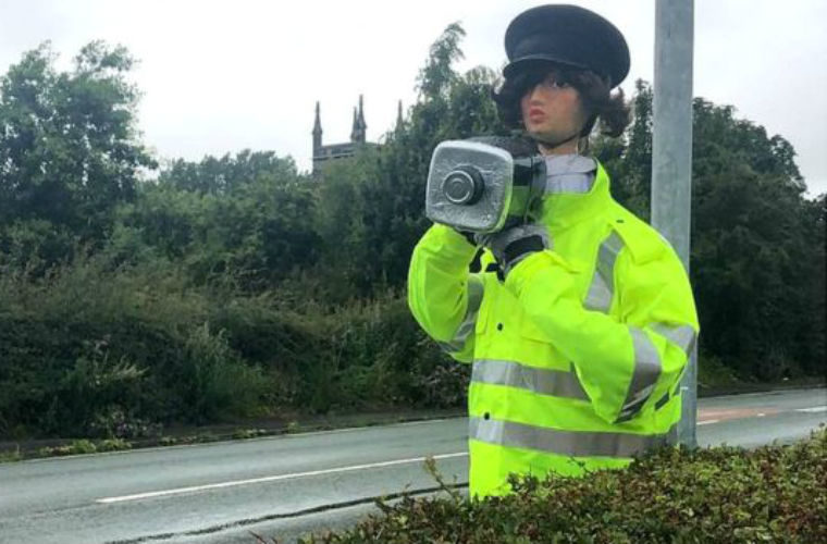 "Police have ""no issue"" with scarecrow officer if it slows traffic"