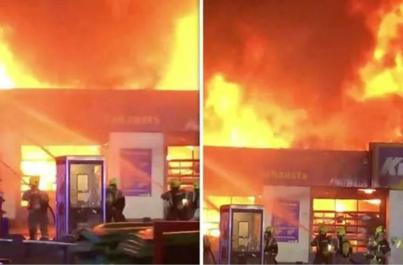 East London Kwik Fit extensively damaged following major fire