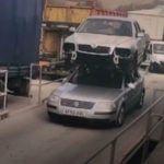 Video: Man fined for driving car with another car on its roof