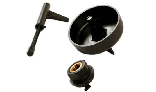 Specialist Mercedes-Benz transmission oil adaptor set from Laser Tools