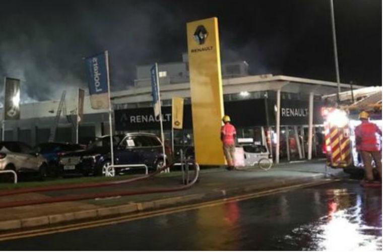 Crews tackle blaze at Stockport main dealer