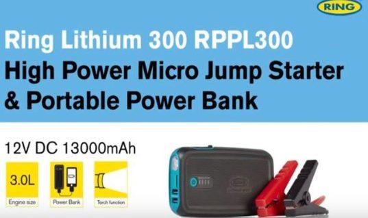 Watch: Ring highlights high power micro jump starter