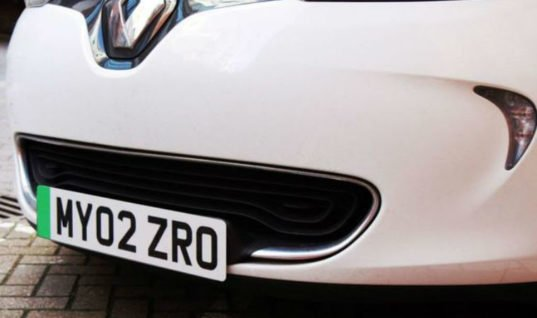 Green number plates for electric cars rolled out this week
