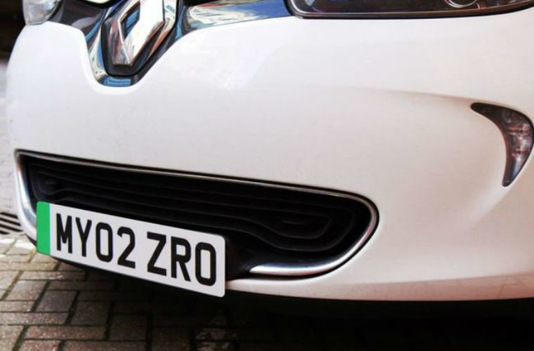 Green number plates for electric cars to be introduced