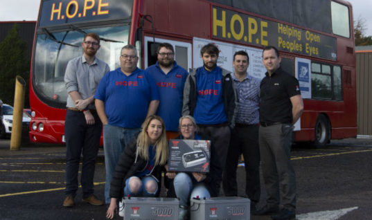 GS Yuasa powers homeless group's charitable work with battery donation