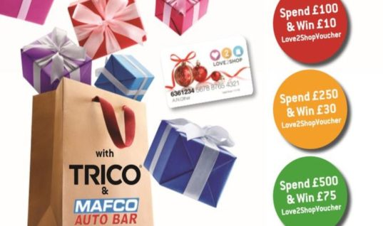 "TRICO and MAFCO Autobar team up for ""cash in for Christmas"" campaign"