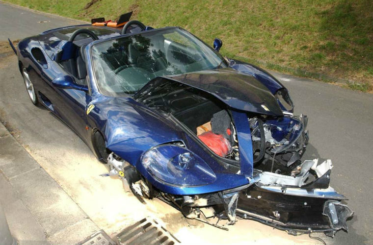 Car dealer appeals court finding after selling Ian Wright's crashed Ferrari