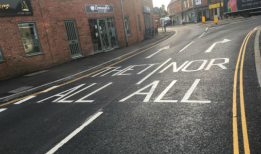 Norfolk road marking blunder as workers confuse 'A11' with 'ALL'