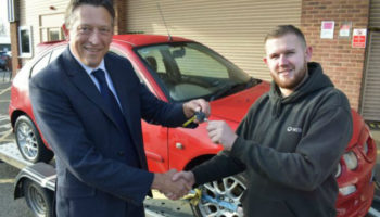 Warwickshire Trading Standards donates unroadworthy cars to college