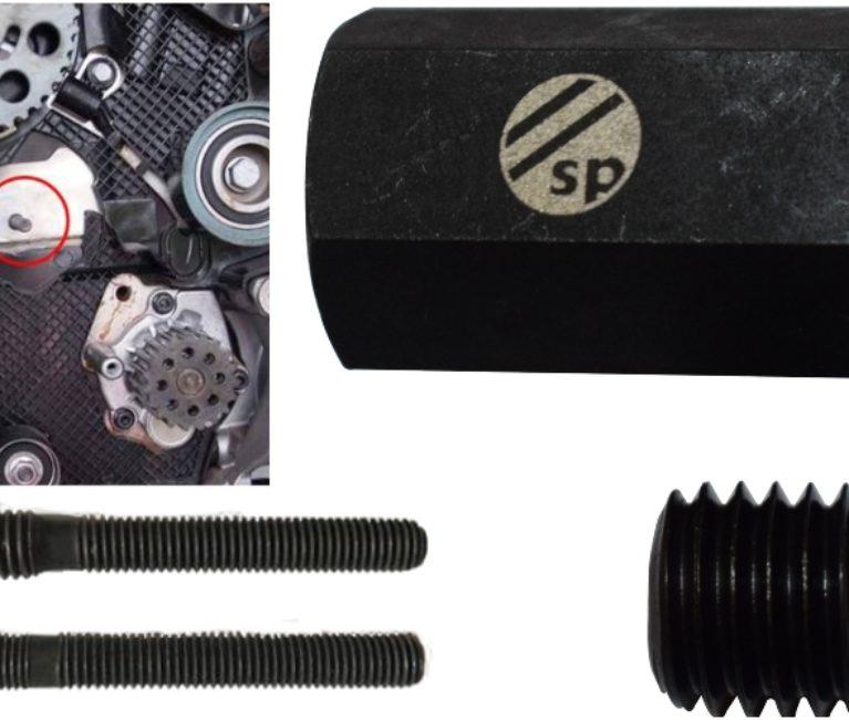 VW stud torque adaptor tackles corroded VAG timing belt tensioner mount studs