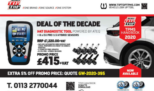 "TPMS diagnostic tool ""deal of the decade"" from REMA TIP TOP"