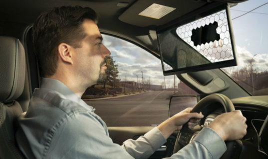New Bosch 'virtual visor' is first sun visor innovation in 95 years