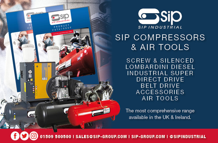 SIP highlights air compressor and air tools range