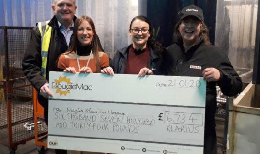 Klarius raises over £6K for local charity