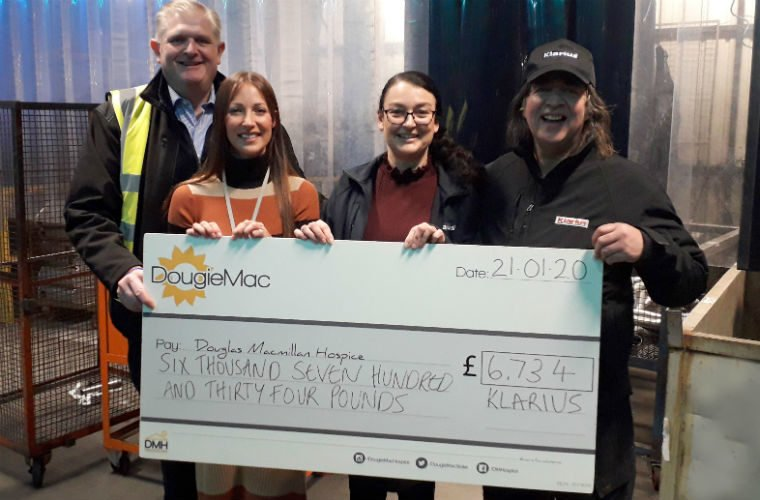 Klarius raises over £6K for local charity