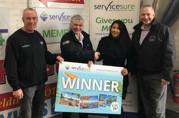 Garage customer wins luxury family holiday in Servicesure promotion