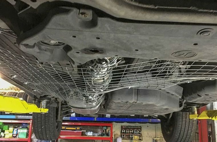 Garage owner takes to fitting catalytic converter 'anti-theft' cages