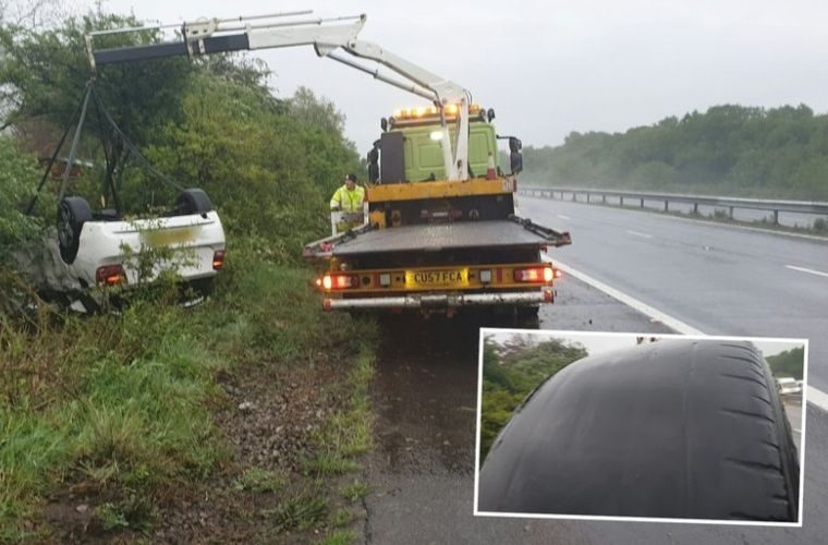 Officers issue roadworthiness warning after car crashes in heavy downpour