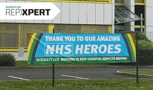 Schaeffler UK headquarters thanks NHS heroes