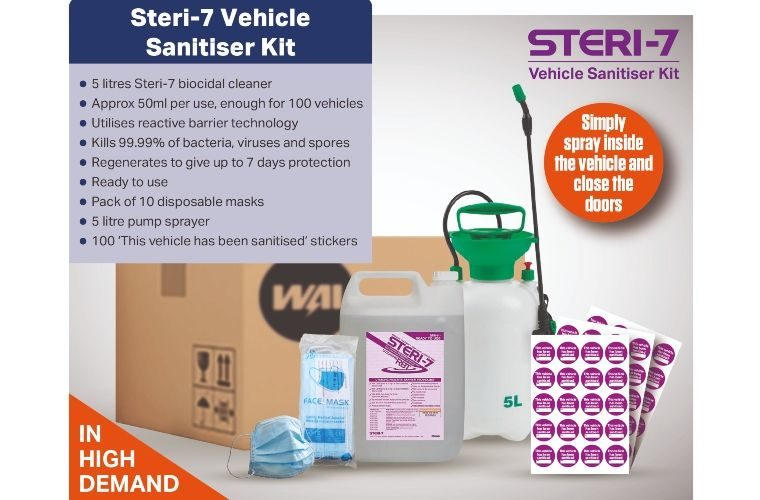 Vehicle disinfectant cleaner kit