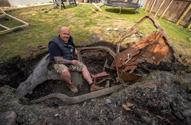 Mystery of car dug up in garden is solved