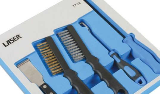 New five-piece brake component cleaning and inspection kit from Laser Tools