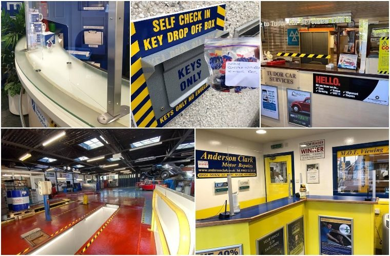 In pictures: Independent garages invest in fight against COVID-19