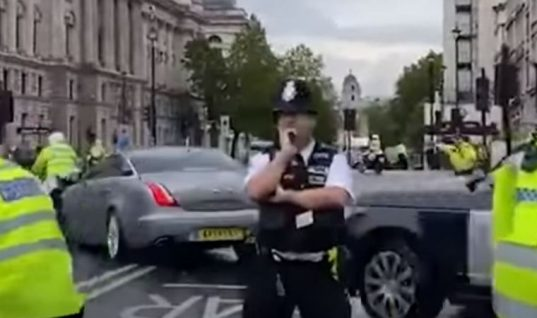 Watch: Boris Johnson in minor car crash outside Parliament