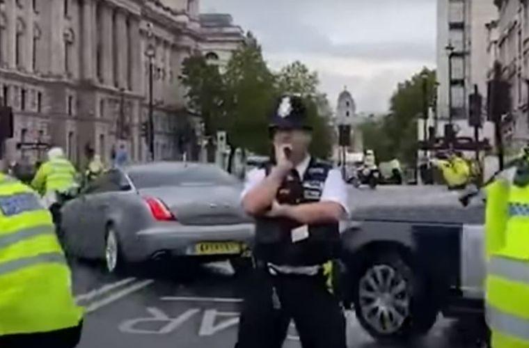Watch: Boris Johnson in minor car crash outside Parliament